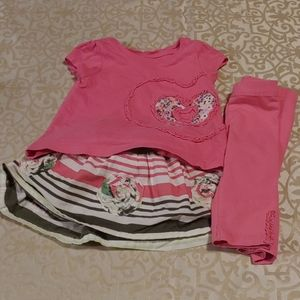 Baby girls outfit 6-9 months